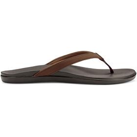 OluKai W's Hoopio Sandals Dark Java/Dark Java